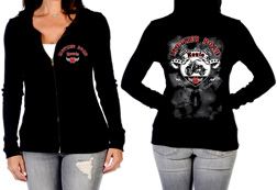 Women's Mother Road Zip-Up Hoodie<br/><b>Available in Black</b><br/>ITEM # 8012