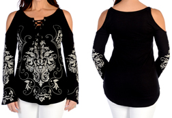 Women's Olde Dutch Sparkles Tunic<br/><b>Available in Black</b><br/>ITEM # 7655