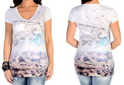 Women's Short Sleeve Grand Canyon Top<br/><b>Available in White</b><br/>ITEM # 7438