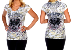 Women's Short Sleeve Liberty Riding Top<br/><b>Available in White</b><br/>ITEM # 7421