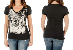 Women's Short Sleeve Run Wild Top<br/><b>Available in Black & White</b><br/>ITEM # 7235