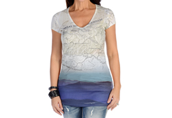 Women's Short Sleeve Smoky Mountains Top<br/><b>Available in White</b><br/>ITEM # 7437