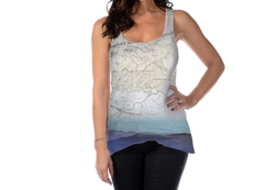 Women's Smoky Mountains Tank Top<br/><b>Available in White</b><br/>ITEM # 7537