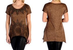 Women's Split Med Hacci Mini Sharktail<br/><b>Available in Brown</b><br/>ITEM # 7964