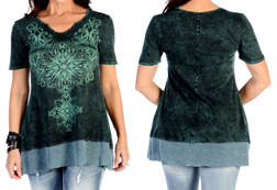 Women's Turquoise Medallion Tunic<br/><b>Available in Turquoise</b><br/>ITEM # 7928