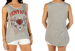 Women's Vintage Original loose fit power tank<br/><b>Available in Heather</b><br/>ITEM # 7522