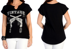 Women's Vintage Revolver Top<br/><b>Available in Black</b><br/>ITEM # 7008