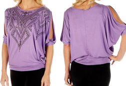 Women's Virtual V Loose Fit Top<br/><b>Available in Lavender & Black</b><br/>ITEM # 7851