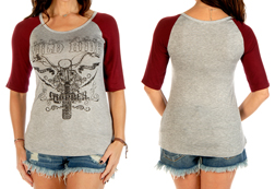 Women's Wild Ride Chopper Short Sleeve Top<br/><b>Available in Heather</b><br/>ITEM # 7180
