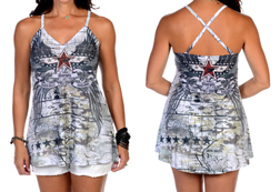Women's Wings & Cartography Sturgis Halter Top<br/><b>Colors- White</b><br/>ITEM# S7530