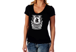 Women's Wounded Warrior - Freedom Isn't Free Top<br/><b> Color - Black</b><br/>ITEM# CS2195
