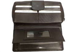Women's Zippered Deluxe Wallet<br/><b>Colors - Black & Brown</b>