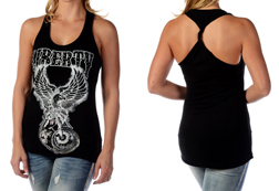 Womens Bike For Liberty Tank Top<br/><b>Available in Black</b><br/>ITEM # 7660