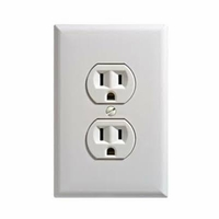 SecureGuard Battery Powered Power Outlet Receptacle Spy Camera (White)