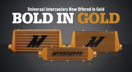 Bold In Gold: New Universal Intercoolers in Gold!