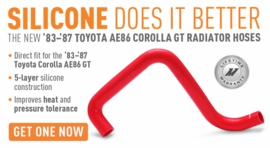 Silicone Does it Better � The New 1983-1987 Corolla AE86 Radiator Hoses!