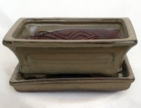 Pro Bonsai Pot/Saucer Pre-Wired/Screened-Mustard
