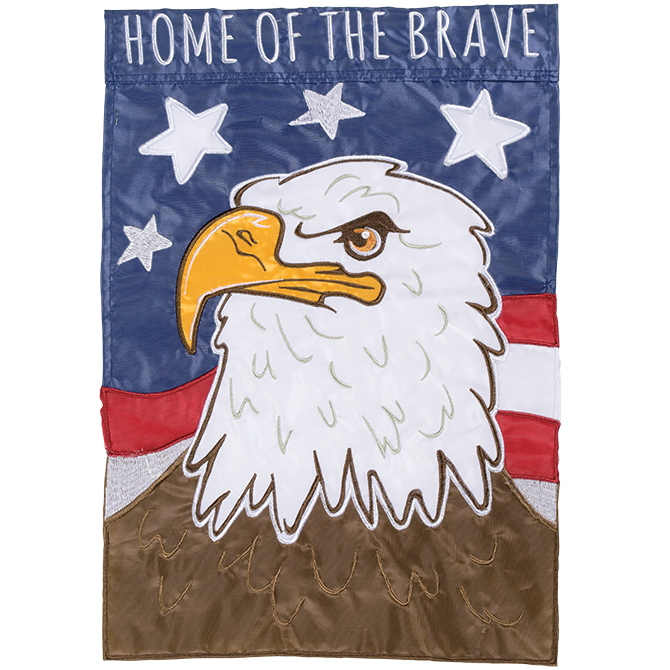 Mini Home of the Brave Eagle Banner Flag - Yankee Doodle Flag ...