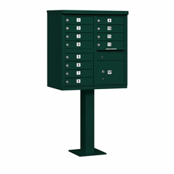 12 Door CBU Mailbox - Green