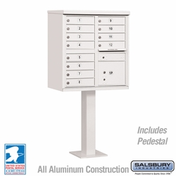 Cluster Box Unit - 12 A Size Doors - Type II - White - USPS Access