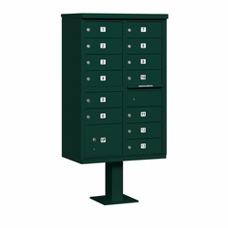 13 Door CBU Mailbox - Green