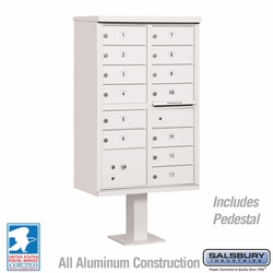 Cluster Box Unit - 13 B Size Doors - Type IV - White - USPS Access