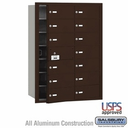 14 Doors (13 Usable) Front Loading