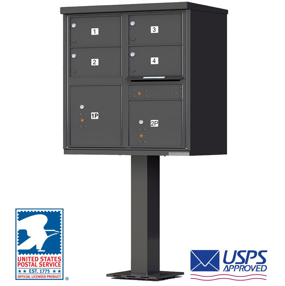 4 door cbu mailboxes with extra large tenant doors bronze for Auth florence