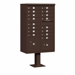 16 Door CBU Mailbox - Bronze
