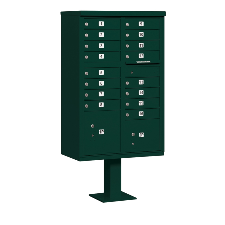 16 Door CBU Mailbox - Green  sc 1 st  Cluster Mailboxes Shipped Direct & 16 Tenant Door Cluster Box Units | CBU Mailboxes