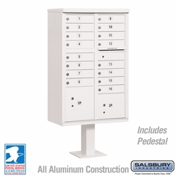 Cluster Box Unit - 16 A Size Doors - Type III - White - USPS Access