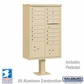 Cluster Box Unit - 16 A Size Doors - Type III - Sandstone - USPS Access