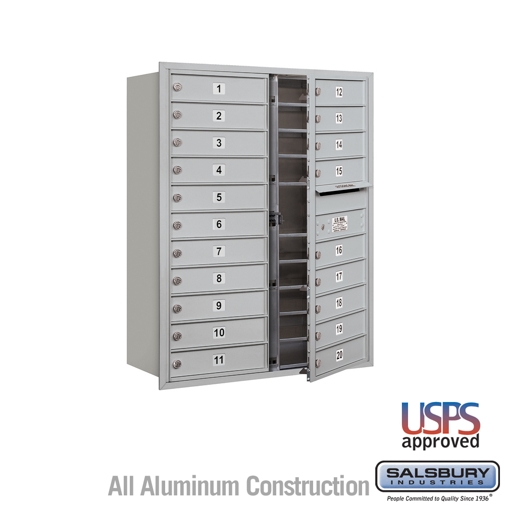 20 Tenant Doors Front Loading USPS APPROVED 4C Horizontal