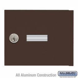 Replacement Door and Lock - Standard A Size - for 4B+ Horizontal Mailbox - with (2) Keys - Bronze