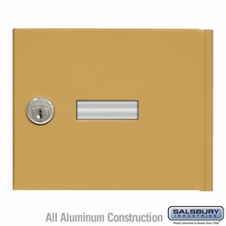 Replacement Door and Lock - Standard A Size - for 4B+ Horizontal Mailbox - with (2) Keys - Gold