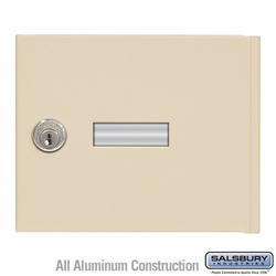 Replacement Door and Lock - Standard A Size - for 4B+ Horizontal Mailbox - with (2) Keys - Sandstone