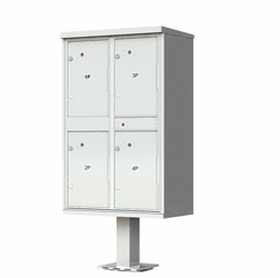 4 Door Parcel Locker Cluster Mailbox - Gray