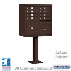 Cluster Box Unit - 8 A Size Doors - Type I - Bronze - USPS Access