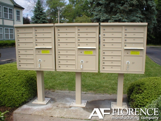 Cbu 12 tenant boxes cluster mailbox in postal grey for Auth florence