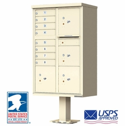 CBU Commercial Mailboxes - 8 Door with 4 Parcel Lockers - Sandstone