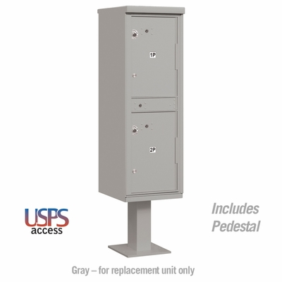 Parcel Locker 2 Compartments Gray