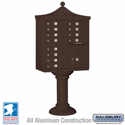 Regency Decorative 12 Door CBU - Cluster Mail Box - Bronze
