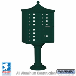 Regency Decorative 12 Door CBU - Cluster Mail Box - Green