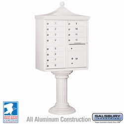 Regency Decorative 12 Door CBU - Cluster Mail Box - White