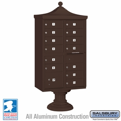 Regency Decorative 13 Door CBU - Cluster Mail Box - Bronze