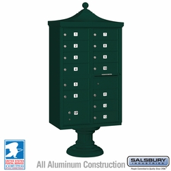 Regency Decorative 13 Door CBU - Cluster Mail Box - Green
