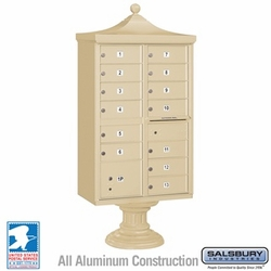 Regency Decorative 13 Door CBU - Cluster Mail Box - Sandstone