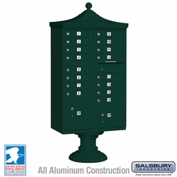 Regency Decorative 16 Door CBU - Cluster Mail Box - Green