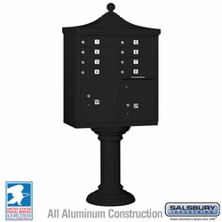 Regency Decorative 8 Door CBU - Cluster Mail Box - Black