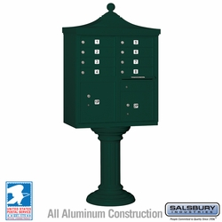 Regency Decorative 8 Door CBU - Cluster Mail Box - Green